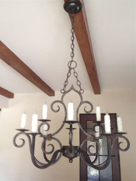 san miguel chandelier rustic kitchen lighting forja