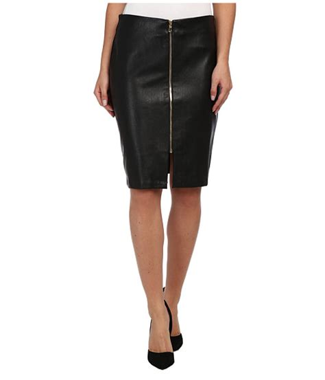 vegan leather zip skirt shipped free at zappos