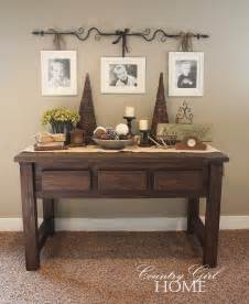 Entry Table Ideas by Country Home A Few Things I Built