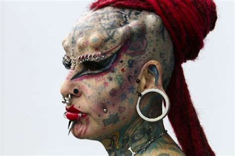 extreme tattoo body piercing odd photos from a mad mad world rediff com india news