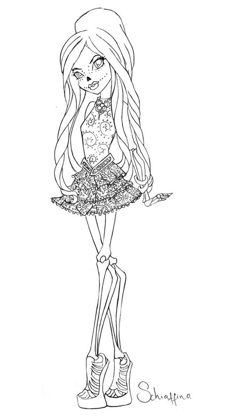 monster high skelita calaveras coloring pages skelita monster high color pages pinterest monster