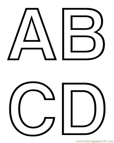 coloring pages abcd coloring pages a b c d education gt alphabets free