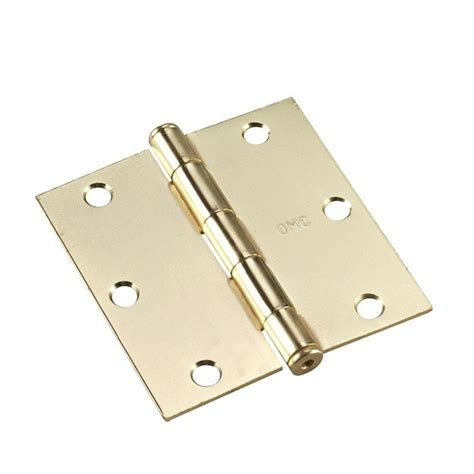 richelieu hardware 3 1 2 in x 3 1 2 in brass hinge