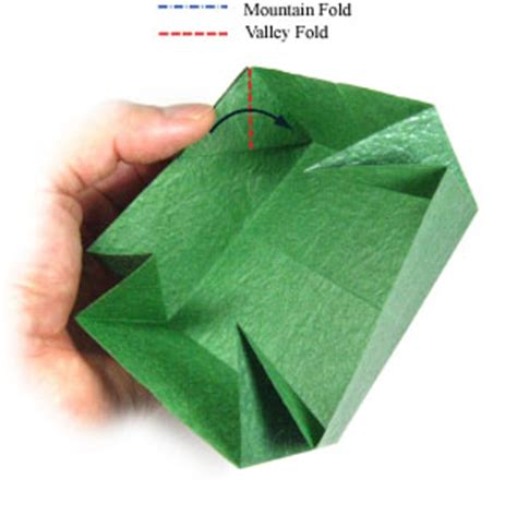 Big Origami Box - how to make a large square origami box page 8