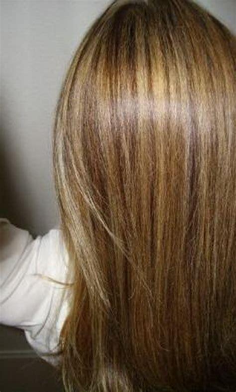 blonde straehnen  braunem haar