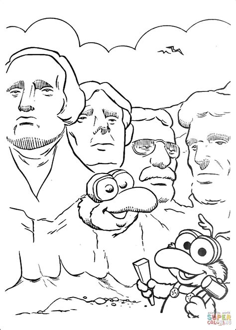 coloring page for mount rushmore mount rushmore coloring pages