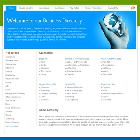 business directory website template creative best website template psd for sale to create