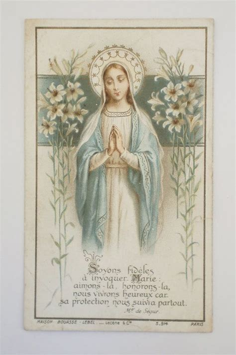 vintage prayer antique prayer card