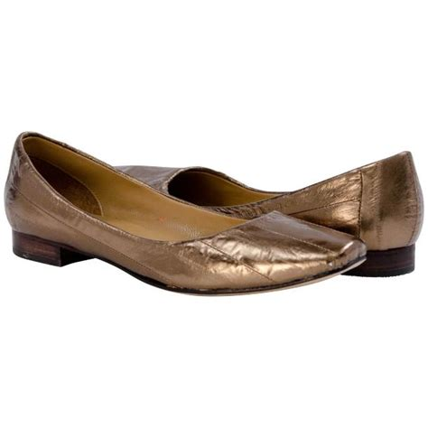 bronze flats shoes bronze eel skin slip flats paolo shoes