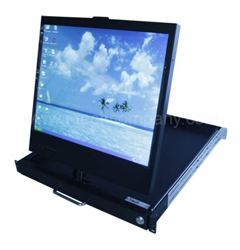 Rackmount Lcd Monitor 1u swivel rackmount swivel 19 quot lcd monitor drawers w optional s hd sd sdi and dvi input