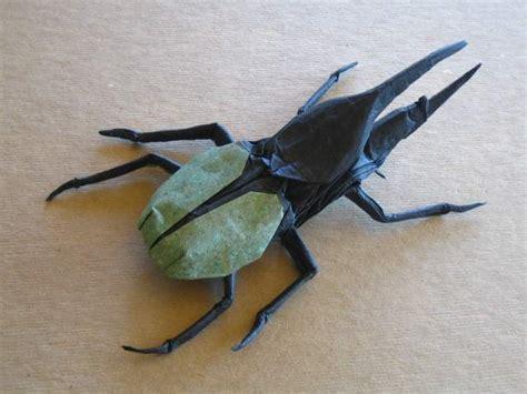 Origami Hercules Beetle - brian chan s origami gallery