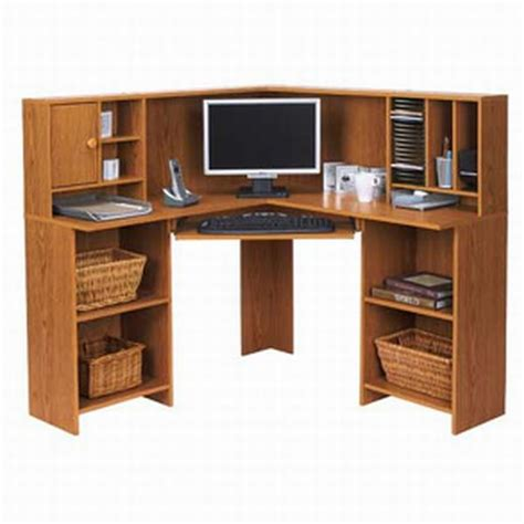 Sauder Pedestal Desk Corner Desks For Home Office Hometone