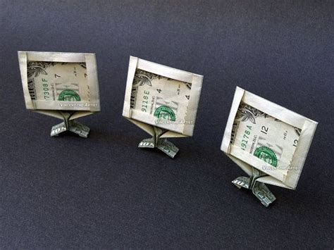 Computer Paper Origami - tv computer monitor dollar origami money dollar origami
