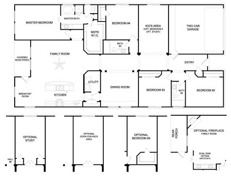 4 bedroom ranch house plans cool house plans