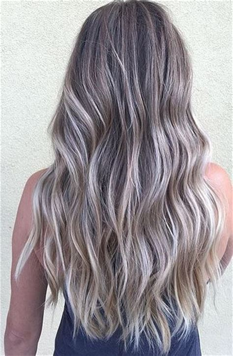 hair color ash brown to ash blonde sombre hair color melt ash silver hair and balayage on pinterest