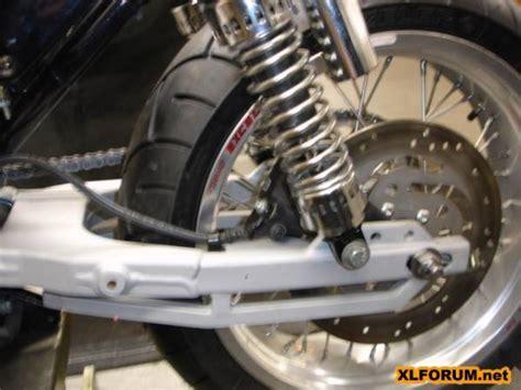 sportster swing arm rubbermount evo swingarm rear wheel limit spec the