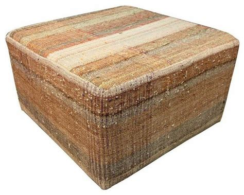 rustic ottoman large ottoman in an earth tone plaid rustic footstools