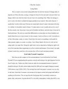 Dietary Analysis Essay by 3 Day Diet Analysis
