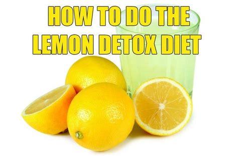 Detox Lemon Diet Cara by 5 Master Cleanse Tips Ps