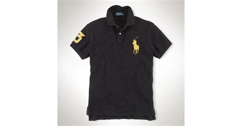 Black Blouse Oversized Kemeja Polos Diskon lyst polo ralph customfit big pony polo in black for