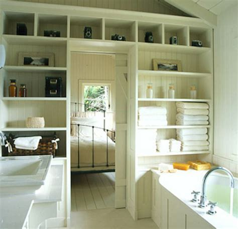 Built In Bathroom Shelves 13 Clever Solutions For Small Bathrooms Home Design And Interior