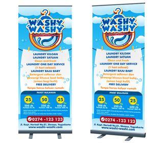 desain banner unik sribu banner design desain banner untuk laundry washy was
