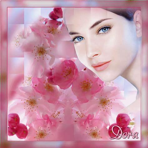 fiore con s fiori volto di donna con fiori