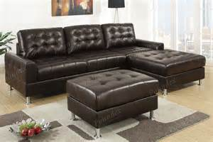 Reversible Sectional Sofa Chaise Bonded Leather Modern Sectional Sofa Set And Reversible Chaise Ebay