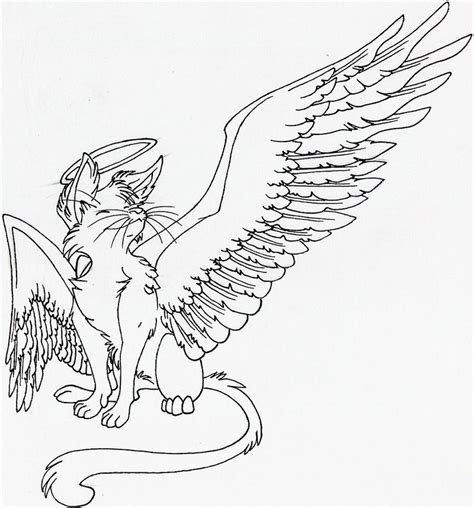 angel cat coloring page warrior cats with wings coloring pages coloring pages