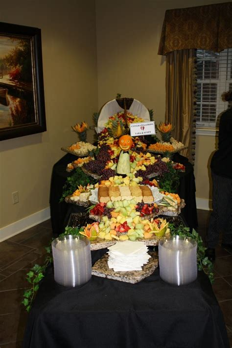 Hand-Crafted Cascading Fruit & Cheese Display | We Cater ... Luau Food Ideas For Party