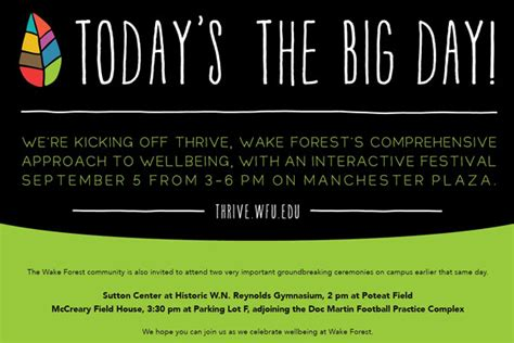 Invitation Giveaway - inside wfu news for faculty and staff invitation to thrive and win prizes with