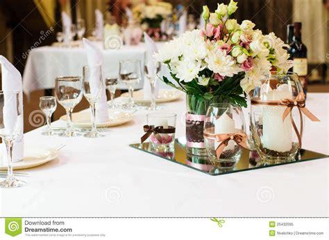 wedding dinner table setting table setting for wedding dinner royalty free stock photo