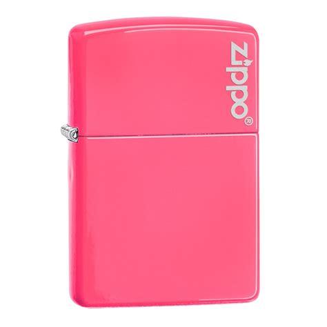 neon pink with zippo logo official zippo shop uk