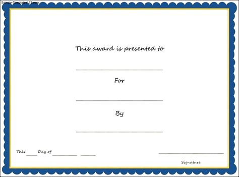 sports award templates sports award certificate template sle templates