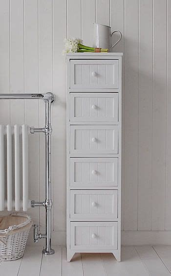 Narrow Bathroom Storage Maine Narrow Freestanding Bathroom Cabinet With 6 Drawers For Storage Bathroom Vanity