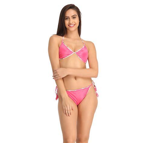 Set Bra buy string bra brief set in pink india best prices