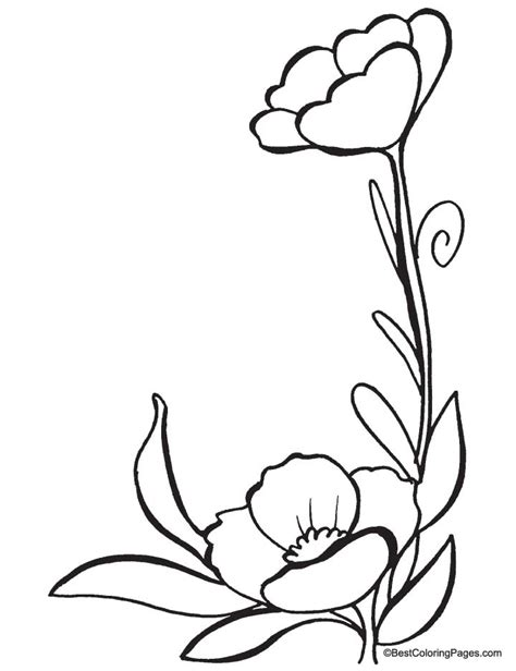 simple poppy coloring pages
