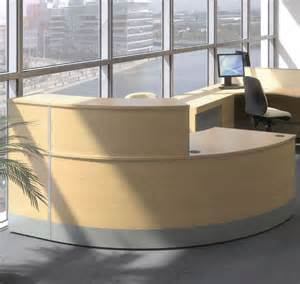 Rounded Reception Desk Curved Reception Desk Reception Desk With Wooden Finish Curved Reception Counter