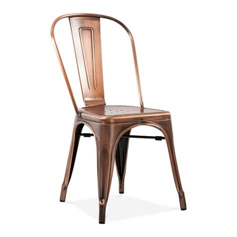 a copper or brass industrial dining chair by ciel