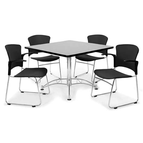 ofm breakroom table and 310 pa chairs package set