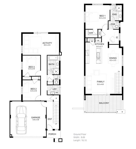 small townhouse plans two storey townhouse plans modern house