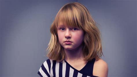 shoulder length hairstyle  bangs   girls