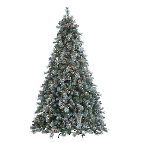 ge alaskan fir flocked pre lit tree best 28 flocked pre lit tree shop vickerman 7 ft indoor pine pre lit flocked