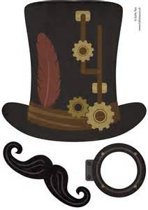 free printable steampunk photo booth props top hat