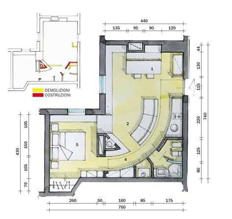 pianta casa 45 mq una casa in bianco e rosso cose di casa