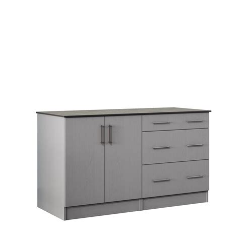 Outdoor Storage Cabinets With Doors Weatherstrong Miami 59 5 In Outdoor Cabinets With Countertop 2 Height Doors And 3 Drawer