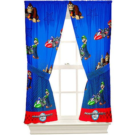 Super Mario Brothers Microfiber Curtain Panels Set Of 2