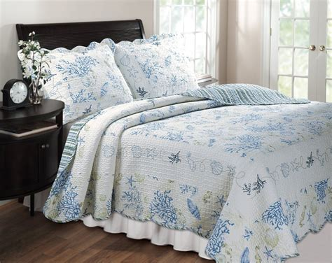 quilt bed sets beach house nautical themed bedroom with queen size
