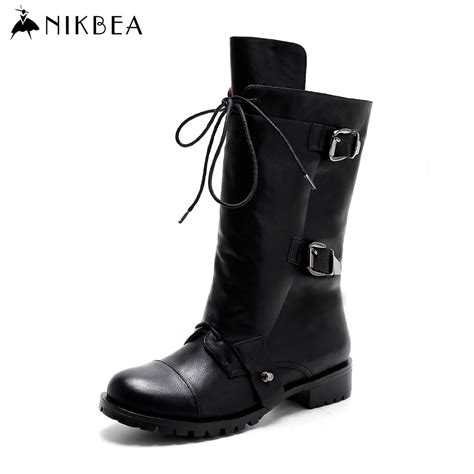 buy womens motorcycle boots aliexpress com buy nikbea handmade punk long boots women
