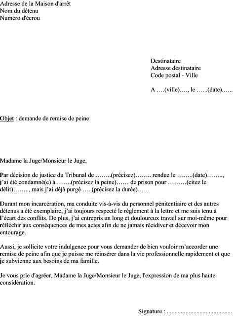 Mod Le De Lettre Demande De Mainlev E D Hypoth Que mod 232 le de lettre demande remise de peine ou r 233 duction de